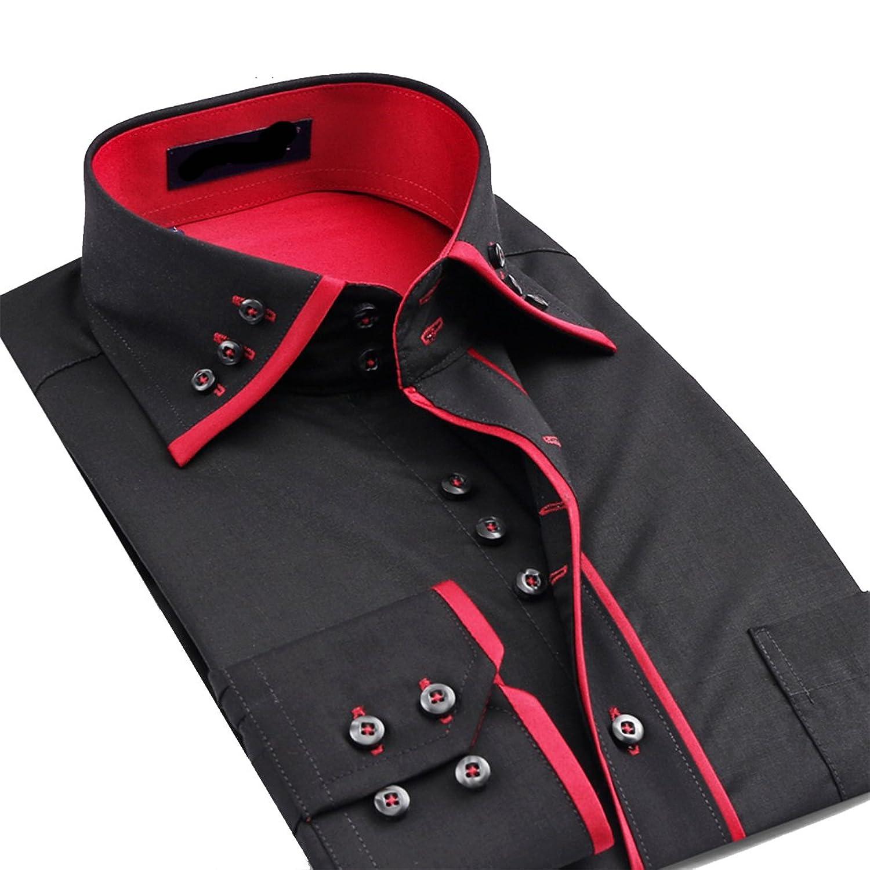 Shirt design for mens - Lyon Becker Mens Italian Casual Fancy Collar Slim Fit Formal Designer Shirt Long Sleeve Dc04