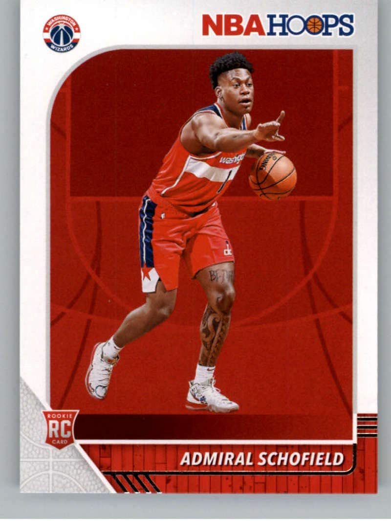 2019-20 Panini Hoops #231 Admiral Schofield Washington Wizards RC Rookie NBA Basketball Trading Card