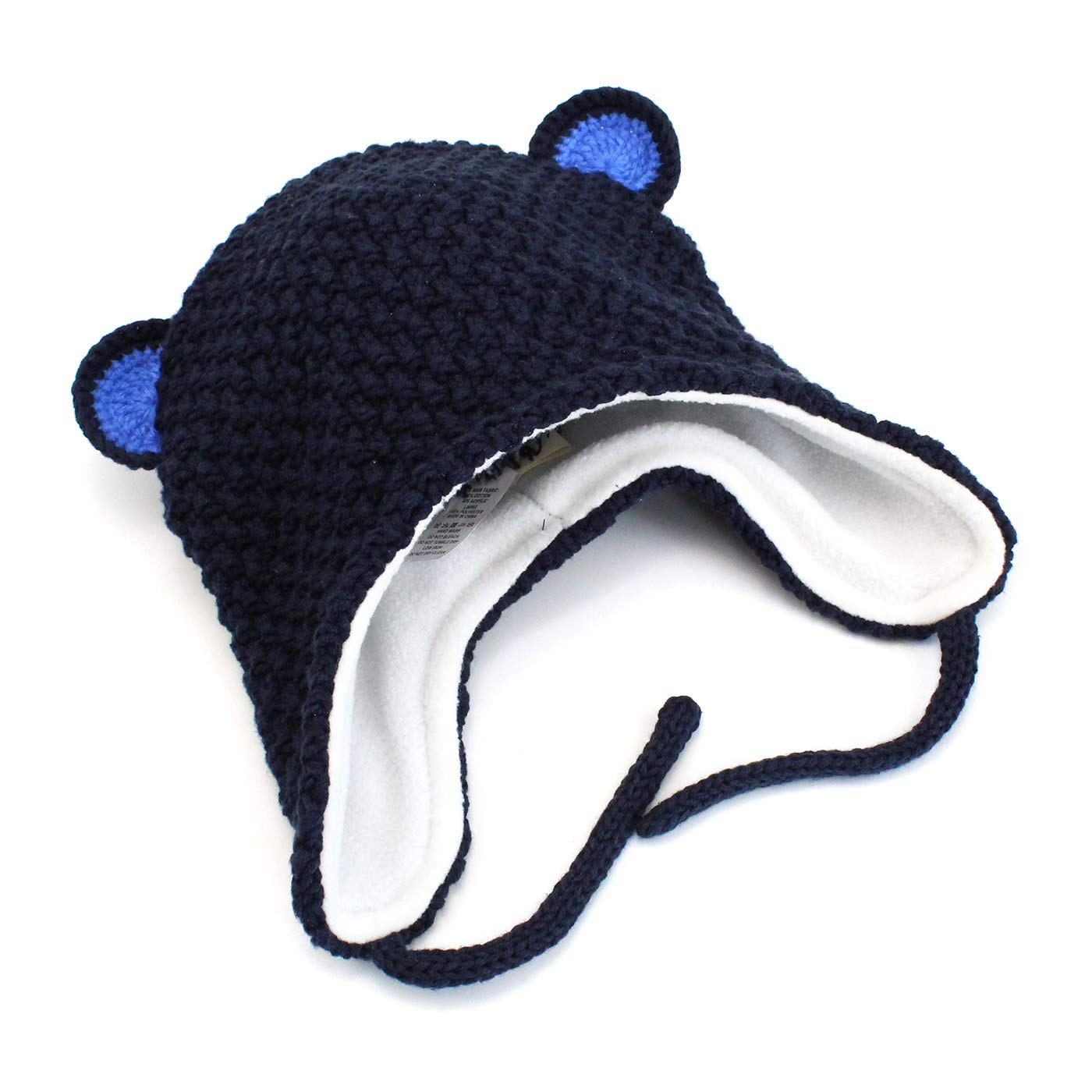 Langzhen Baby Kids Winter Knitted Hat Boy Girl Thick Warm Beanie Cap with Earflap for Autumn Winter