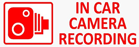 """Imagen dePlatinum Place -Adhesivos de seguridad para ventanilla de coche con texto """"In Camera Recording"""", tamaño pequeño, 5 unidades, camioneta, furgoneta, camión, taxi, viñeta de seguridad, versión ventana"""