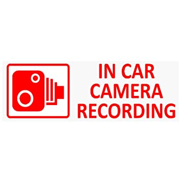 LORRY TAXI WINDOW PACK OF 6 VAN 6 x IN CAR CAMERA RECORDING SIGNS CCTV SECURITY STICKERS FOR INSIDE OF CAR