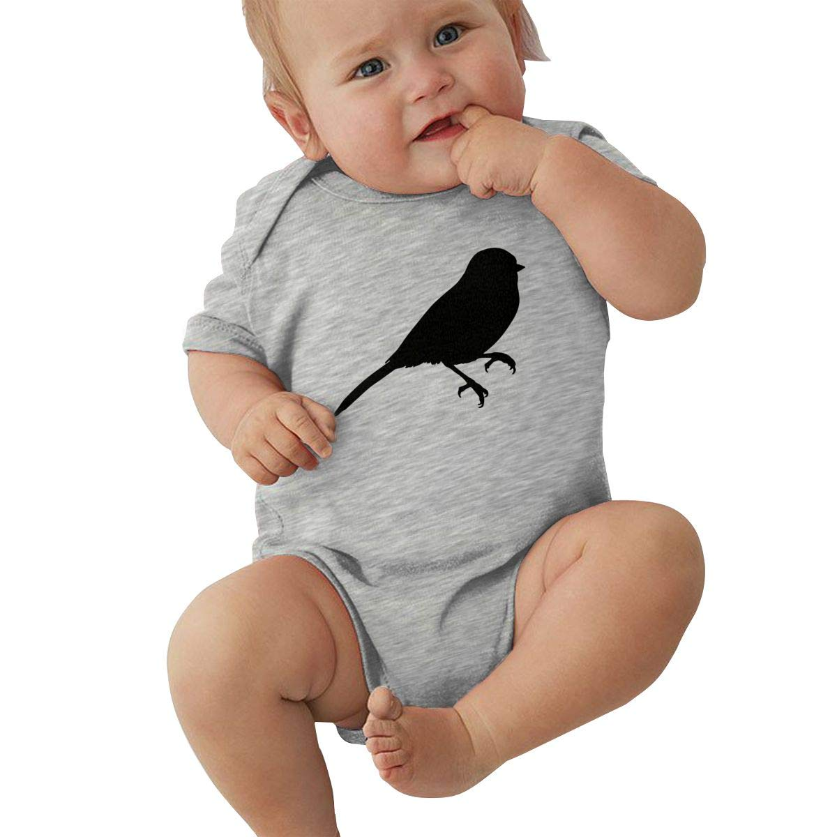 Infant Baby Girl Boy Chickadee Silhouettes OutfitsRomper Jumpsuit Short Sleeve Bodysuit Tops Clothes