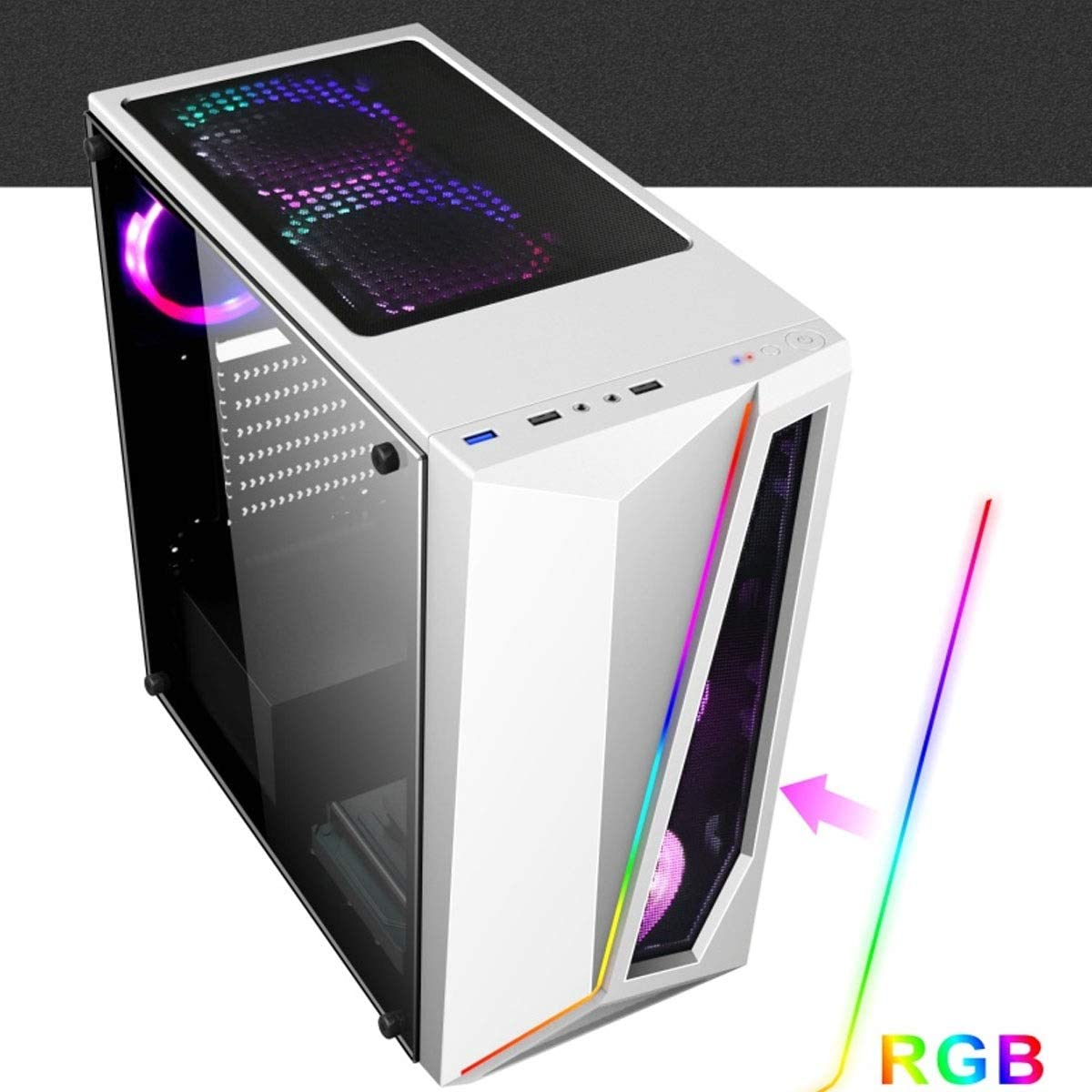 Computer Case Black Air Cooled White Color : White, Style : E ATX Large Server Chassis Desktop Server Case