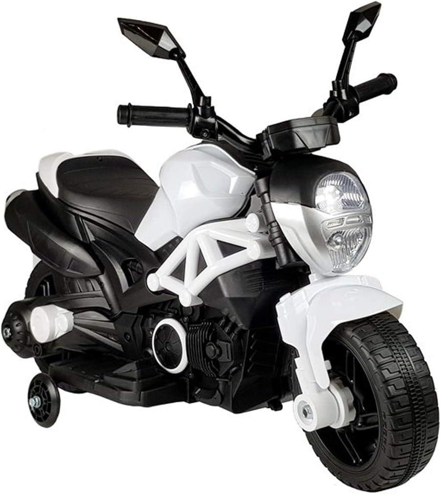 fit4form Kindermotorrad White Racer Ultimate Elektromotorrad 6V Kinderfahrzeug elektrisch LED