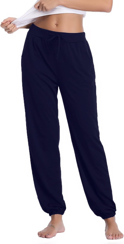 Aibrou Pantaloni Pigiama Donna Pantalone Donna Estivo con Coulisse Trousers per Casual Yoga Jogging Sportivi