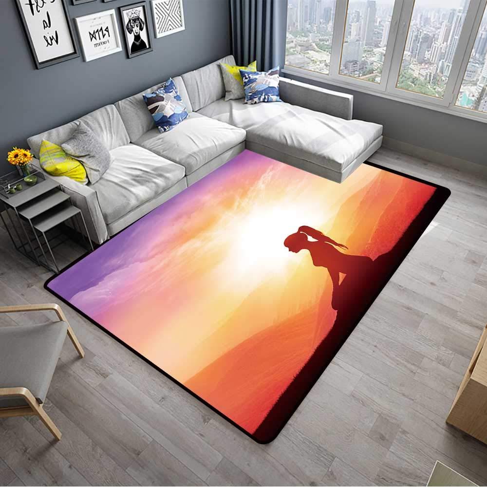 Amazon.com: alsohome Contemporary Synthetic Rug Yoga and ...