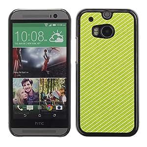 TopCaseStore / la caja del caucho duro de la cubierta de protección de la piel - Lines Clean Design Present - HTC One M8