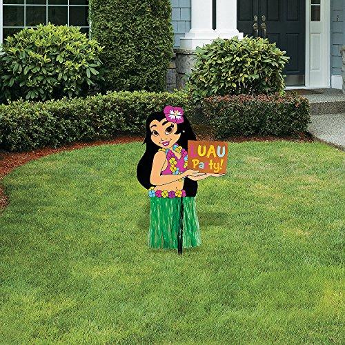 (Fun Express - Hula Girl Yard Stake - Party Decor - General Decor - Yard Signs - 1 Piece)