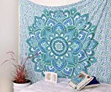 Popular Handicrafts Popular Ombre Mandala Tapestries Hippy Hippie Wall Hanging Wall Tapestries Indian Mandala Tapestries Bohemian Tapestry Sofa Cover Beach Blanket Dorm Decor Wall Art By
