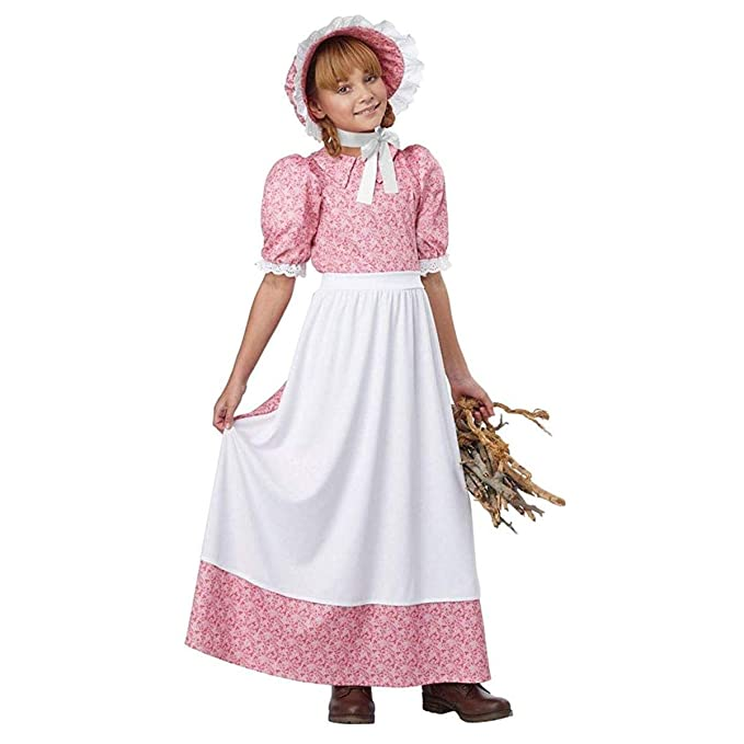 Victorian Kids Costumes & Shoes- Girls, Boys, Baby, Toddler California Costume Early American Girl Costume $33.28 AT vintagedancer.com