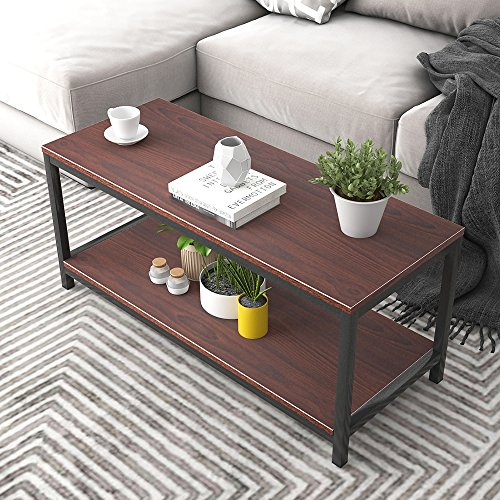 "Dland Coffee Table TV Stand 39"", Rectangular Composite Wood Board, Cocktail Table/Side Table/End Table/Sofa Table/Dining Table for Living Room, TVST4-WB Walnut, 1 Pack"