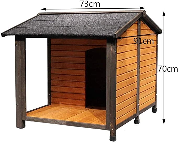 HEMFV Madera sólida al Aire Libre for Perro con Puerta - Resistente al Agua y Atractivo for Perros pequeños - fácil de Montar - Perfecto for Patios Traseros: Amazon.es: Hogar