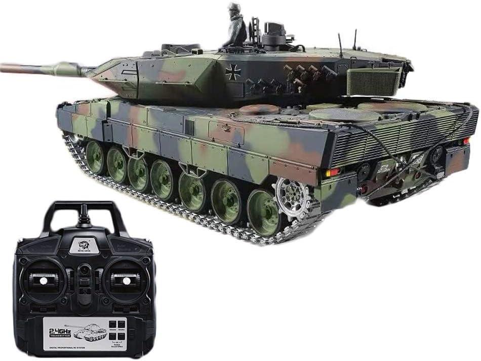 OUUED Versión de Tapa Dura 1:16 Grande alemán Leopard Tanque de Control Remoto 2.4G Modelo Militar de Batalla Principal Altos Caballos de Fuerza rastreadores Carro de la batería Fuera de la Carretera