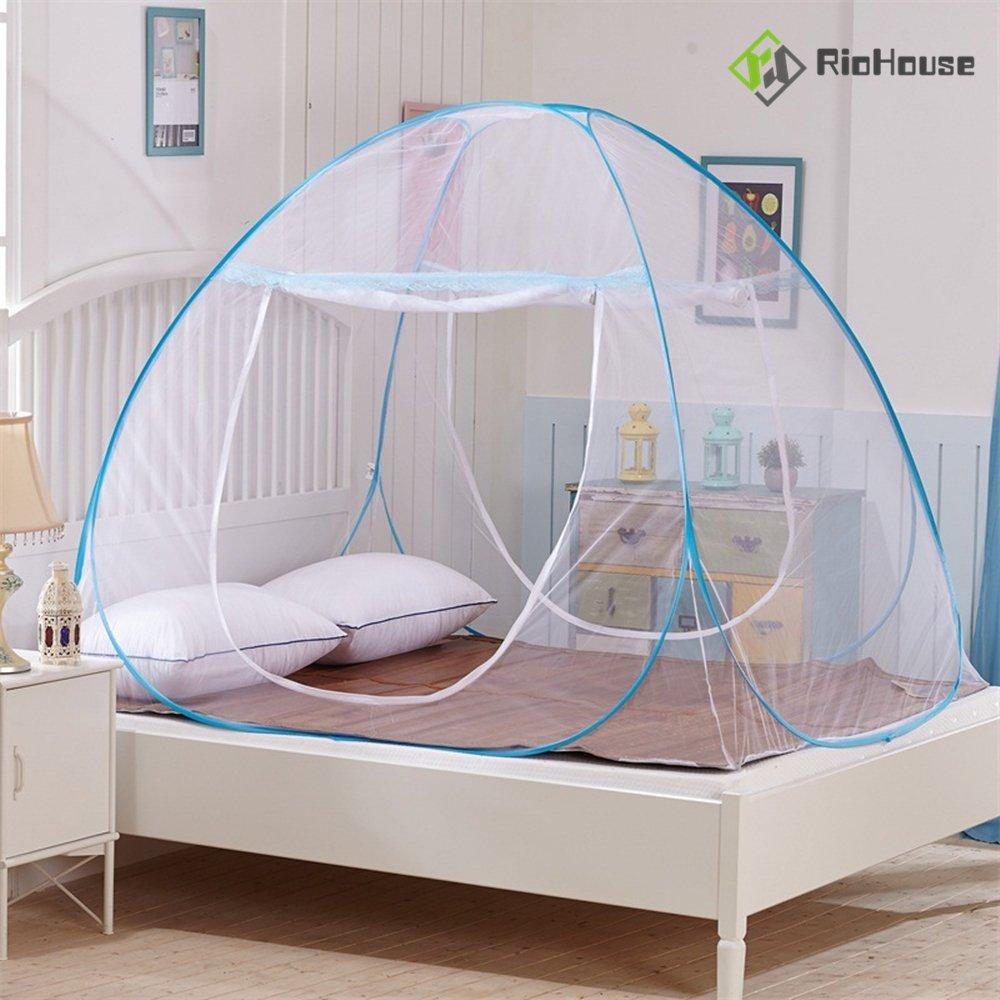 riohouse mosquitera totalmente cerrado Independiente portátil de viaje plegable tienda de campaña para acampar al aire libre de mosquitos Mosquito Cortina ...