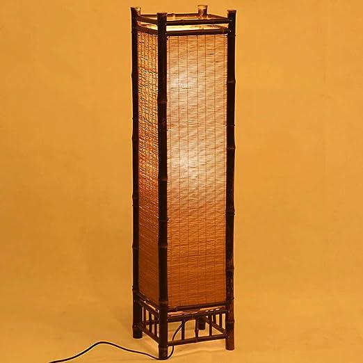 Lámparas de Pie Lámpara Vertical Piso Handcraft Bamboo Floor Lamp ...