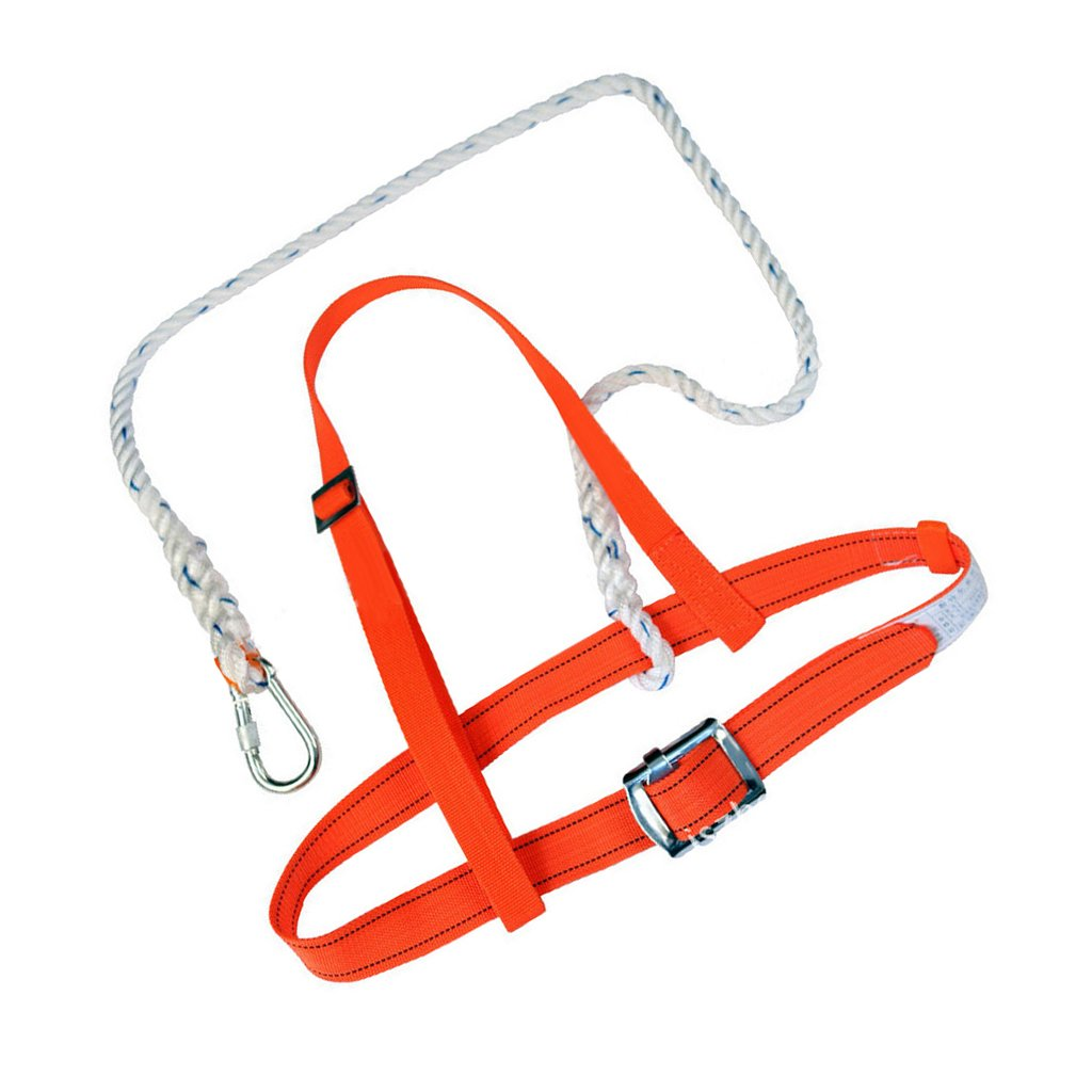 Homyl Industrial Fall Protection Safety Harness Kit with Double Leg 4.6-Feet Shock Absorber Stretchable Lanyard and Hook Personal Fall Arrest System