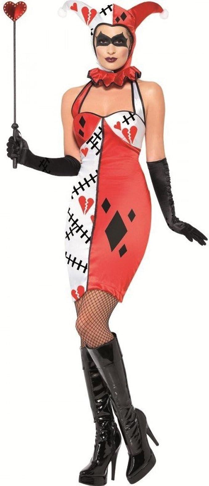 Disfraz Halloween Carnaval Mujer Jolly Joker Cartas Bufón Circo ...