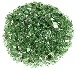 American Fireglass 1/4 Evergreen Reflective Fire Glass, 20 lb. Bag For Sale