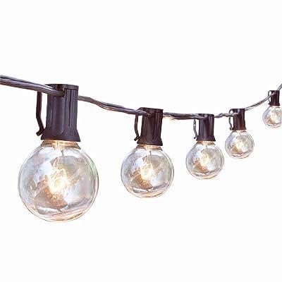 Outdoor String Lights, G40 25Ft Globe Bulbs Edison Style Patio String Light Lamp, Tungsten Bulbs Christmas String Lights for Garden Porch Backyard Party Yard Christmas Tree Decoration, USA UL Listed : Garden & Outdoor