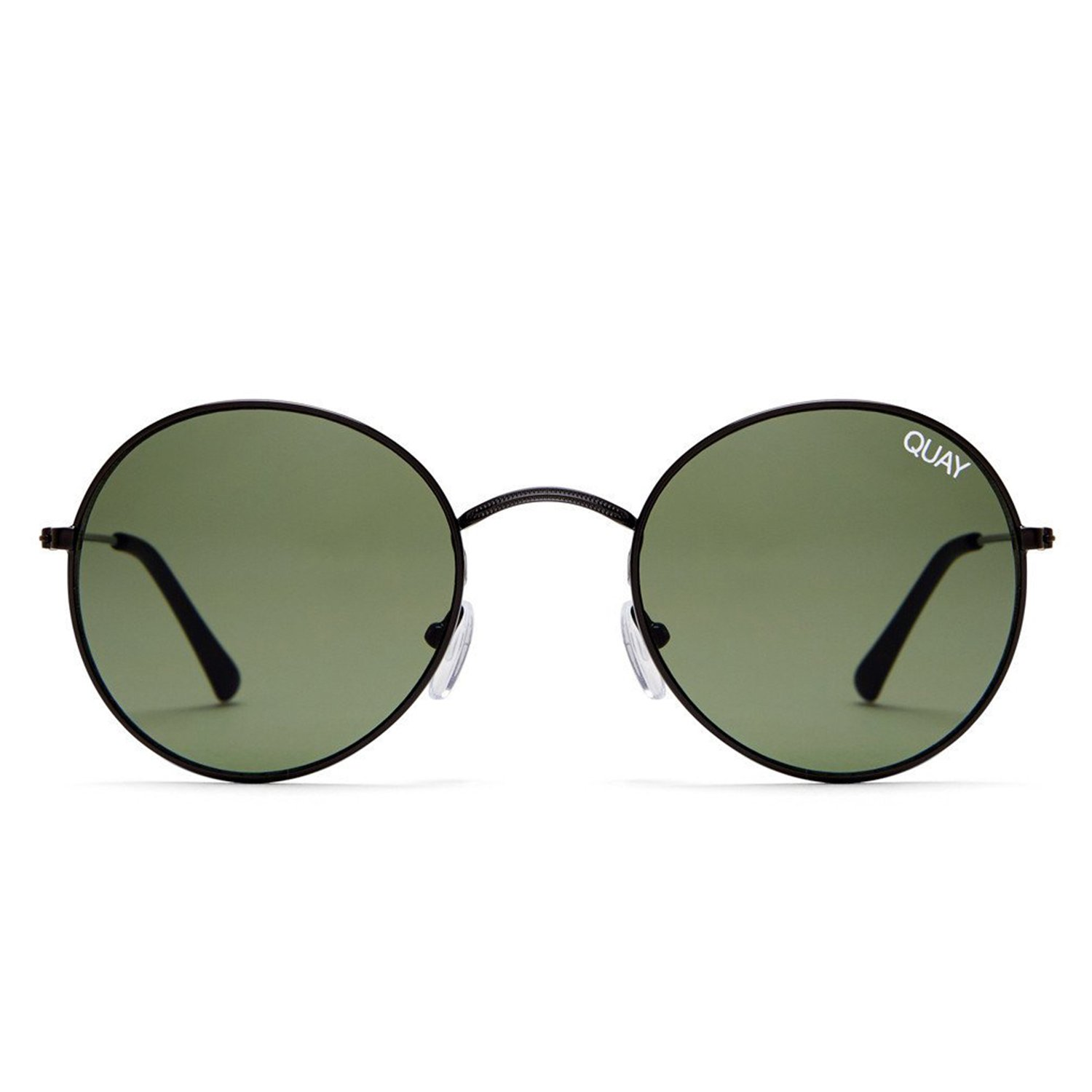 69c367b0ef Amazon.com  Quay Australia MOD STAR Women s Sunglasses Vintage Small Round  - Black Green  Clothing