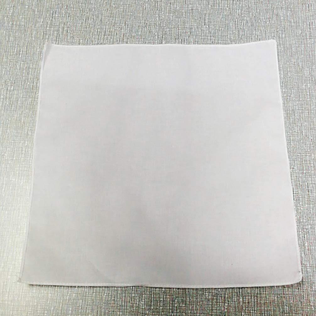 TOPBATHY 12 pañuelos de algodón blancos, artesanía Diy, pañuelos ...