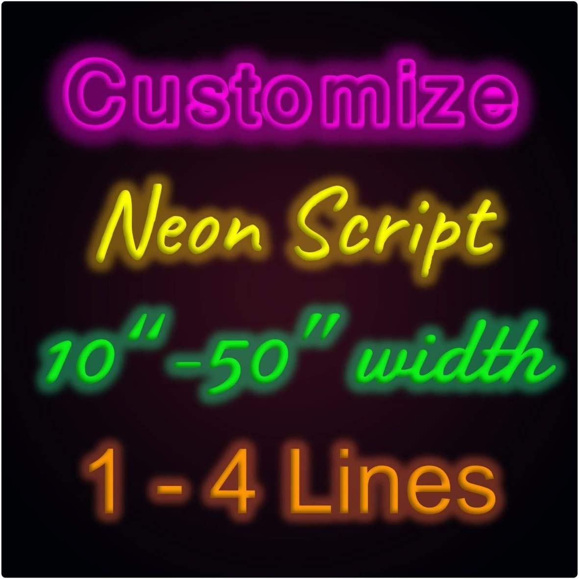 Custom Neon Signs Neon Led Personalized Neon Signs Neon Letter Lights Dimmable Handmade Wall Bedroom Party Decor (Customization: Color, Size, Font, Backboards, Wall Mounted, Window/Ceiling, Etc.)