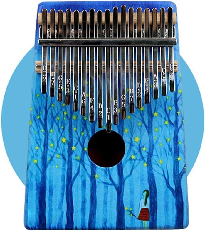 親指ピアノ キッド大人用キャリーバッグで塗装カリンバ17キー親指ピアノ鉱石メタルキー フィンガーピアノ (Color : Blue, Size : 13x3x18cm)