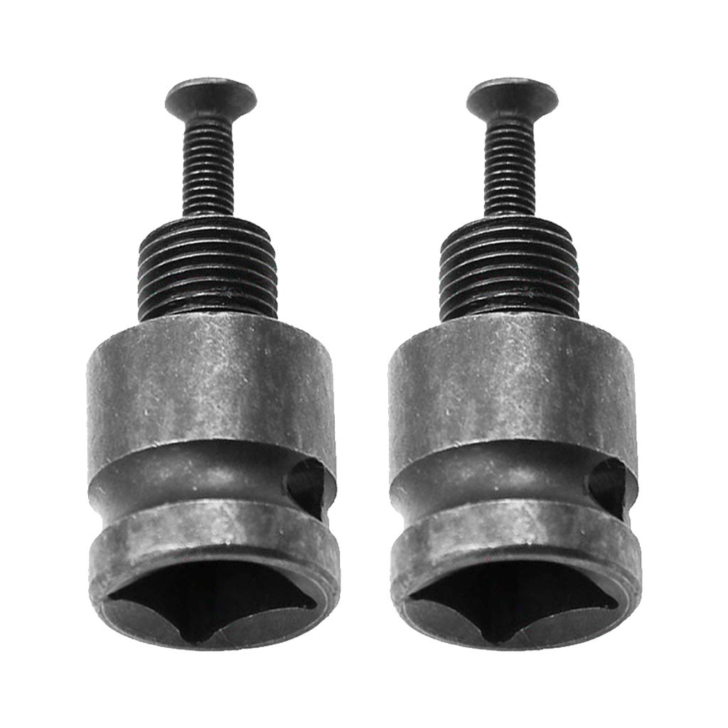 2X 1//2inch Drill Chuck Adaptor for Impact Wrench Conversion Tools with Screw