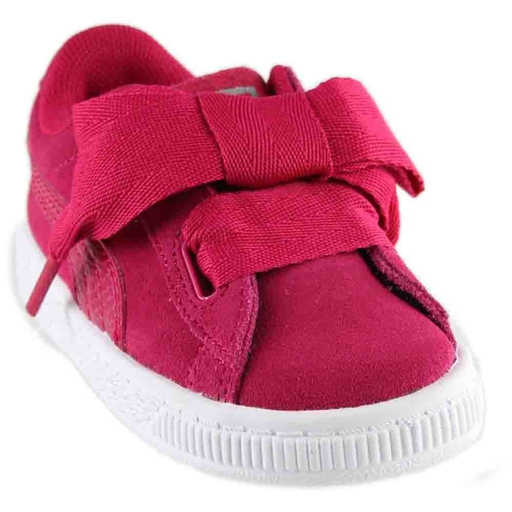 PUMA Unisex-Kids Suede Heart SNK,Love Potion/Love Potion,7 M US Toddler