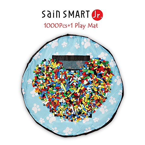 SainSmart Jr. 1000 Pc Building Bricks Set, with Kids Play Floor Mat, Tight Fit with Major Brand [Black Friday Deals]