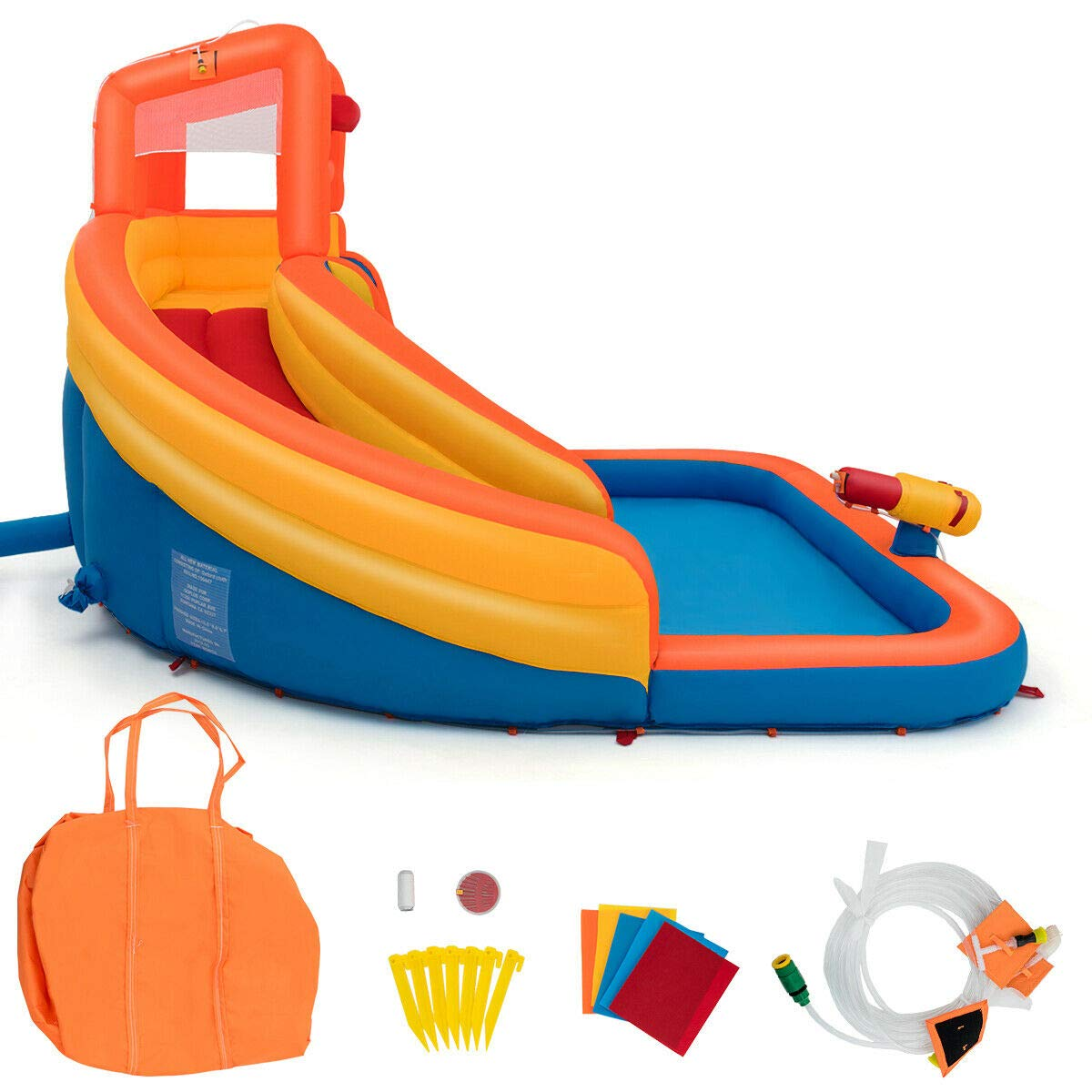 Heize Best Price Orange Inflatable Splash Water Bouncer Slide Bounce House w/ Climbing Wall & Water Hose Splash Pool(U.S. Stock) by Heize Best Price (Image #3)