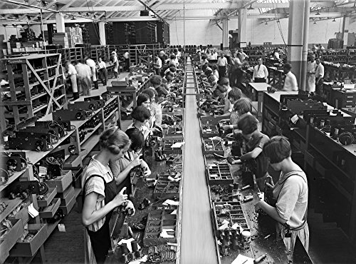 Radio Factory C1925 Nyoung Women At Work In The Assembly Room Of The Atwater Kent Radio Factory In Philadelphia Pennsylvania Photographed C1925 Poster Print by (18 x 24)