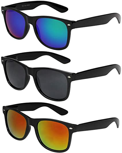 X-CRUZE® - Lot de 3 paires de lunettes de soleil unisexe, femmes ... 1ef354e907ad