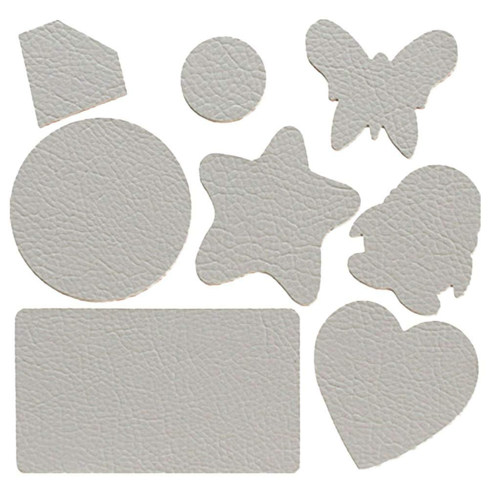 Sunflowerany Leather Patch - Kit de pièces de réparation en Cuir véritable et Vinyle, Cuir Auto-adhésif Grain pour chaises en Cuir, canapés en Cuir, Lits en Cuir, sièges Auto, Sacs en Cuir Carefully