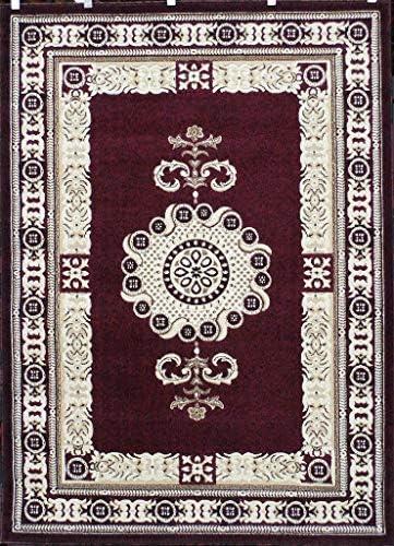 Americana Traditional Persian Area Rug Burgundy Design 121 8 Feet X 10 Feet 6 Inch