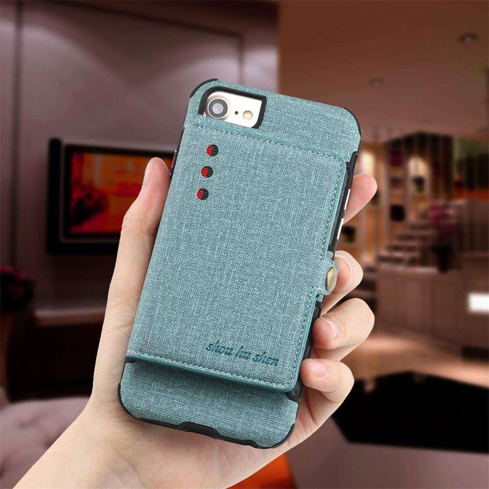 iPhone Xs Max Wallet Case iPhone Xs Max Case with Wallet iPhone Xs Max Commuter Case Case for iPhone Xs Max Full Protection Shell Case for iPhone Xs Max iPhone Xs Max Case (Green, iPhone Xs MAX)
