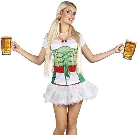 erdbeerclown Mujer Disfraz/3d Photo vestido fotográfico realistik ...