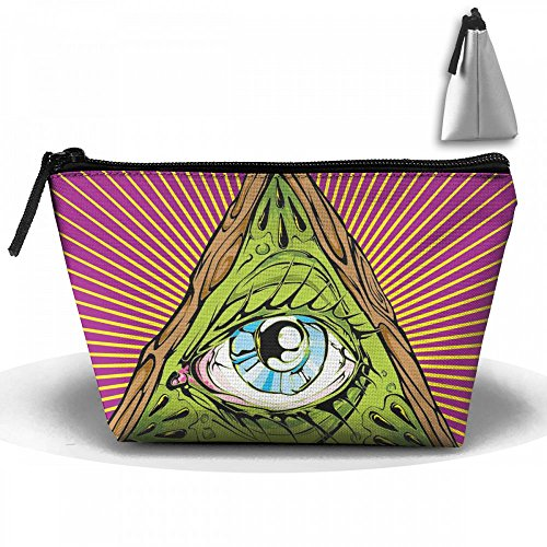 All Seeing Eye Tattoo Cosmetic Bags Portable Travel Toiletry Pouch Makeup Organizer Bag With Zipper by Raglan Carnegie