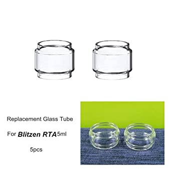 5pcs Blitzen Rta Replacement Glass Tube Tank Bubble Glass Tube