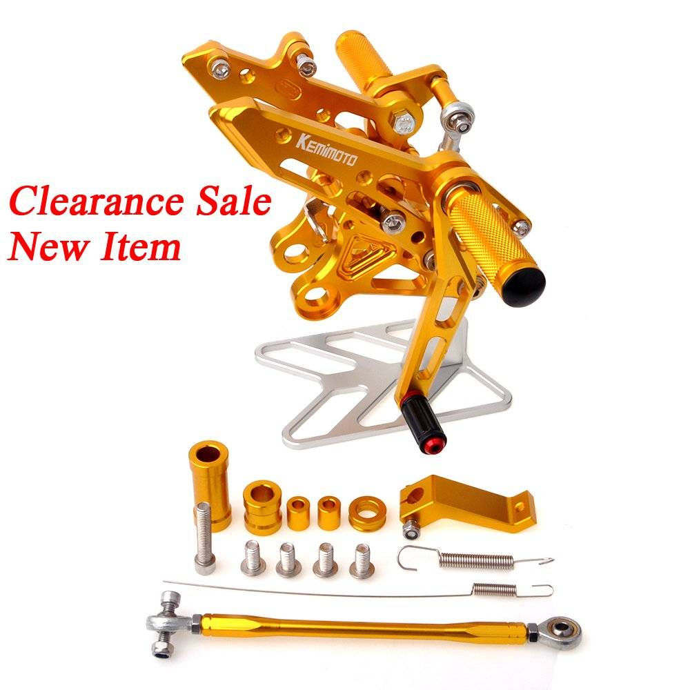 Grom Rearset Rear Sets CNC Adjustable Foot Pegs for Honda Grom MSX 125 2013 2014 2015 2016