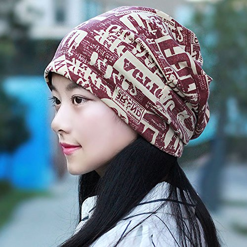 Cap children Korean letters to the turban cap resilient pile cap head shaved to pregnant women and new,caps are code(55-60cm),water red