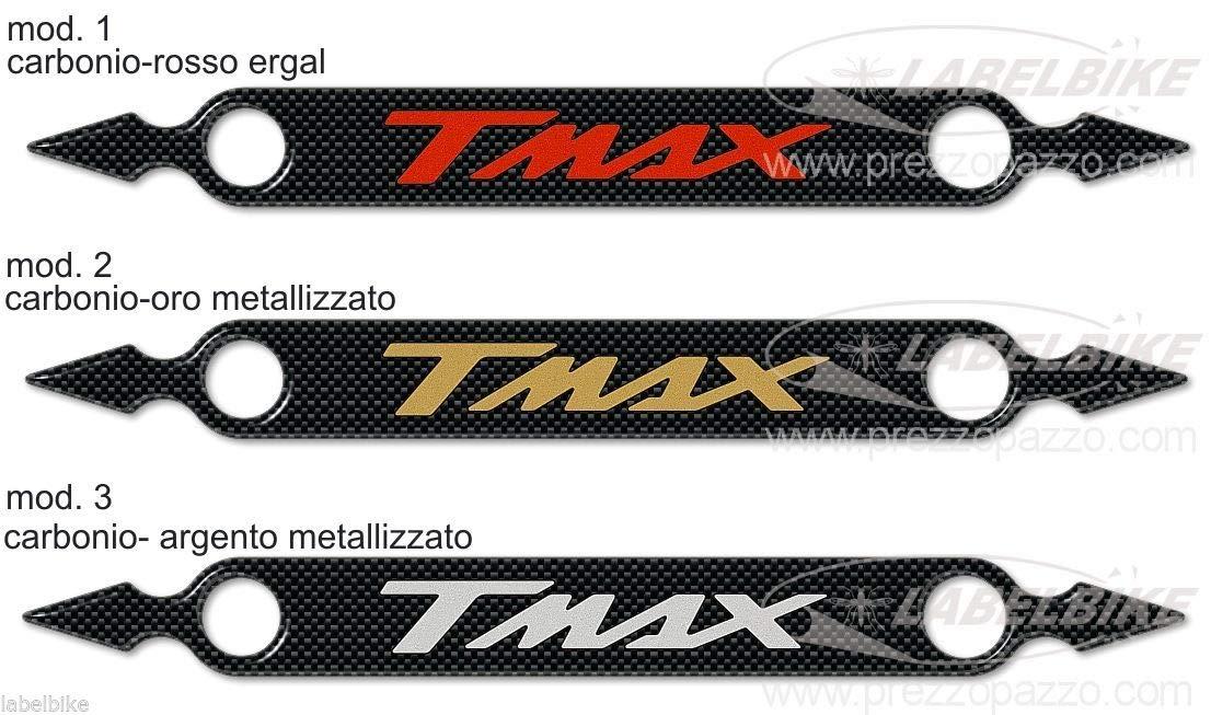 Carbone Argent Adh/ésif 3D Ergal Protection Silencieux Pot D/Échappement pour Yamaha Tmax 500-530 /à partir de 2008-16