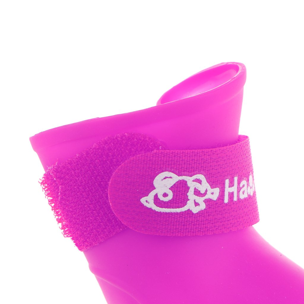 Rojo S Baoblaze 4X Botas de Lluvia Impermeables de Animal Dom/éstico Gato Perrito Patean Zapatos Antideslizantes Accesorios