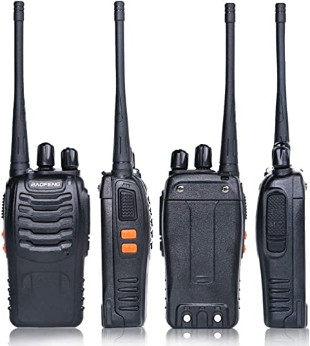 Baofeng BF-888S Rechargeable Long Range 5W Two Way Radio Walkie Talkies 16 Channel Handheld Radio Built in LED Torch Microphone with Earpiece Pack of 2 2 Pack