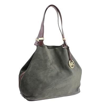 f00882ba88c3 Amazon.com: Michael Kors Colgate Grab Bag Reversible Suede Tote - Dark  Olive: Shoes