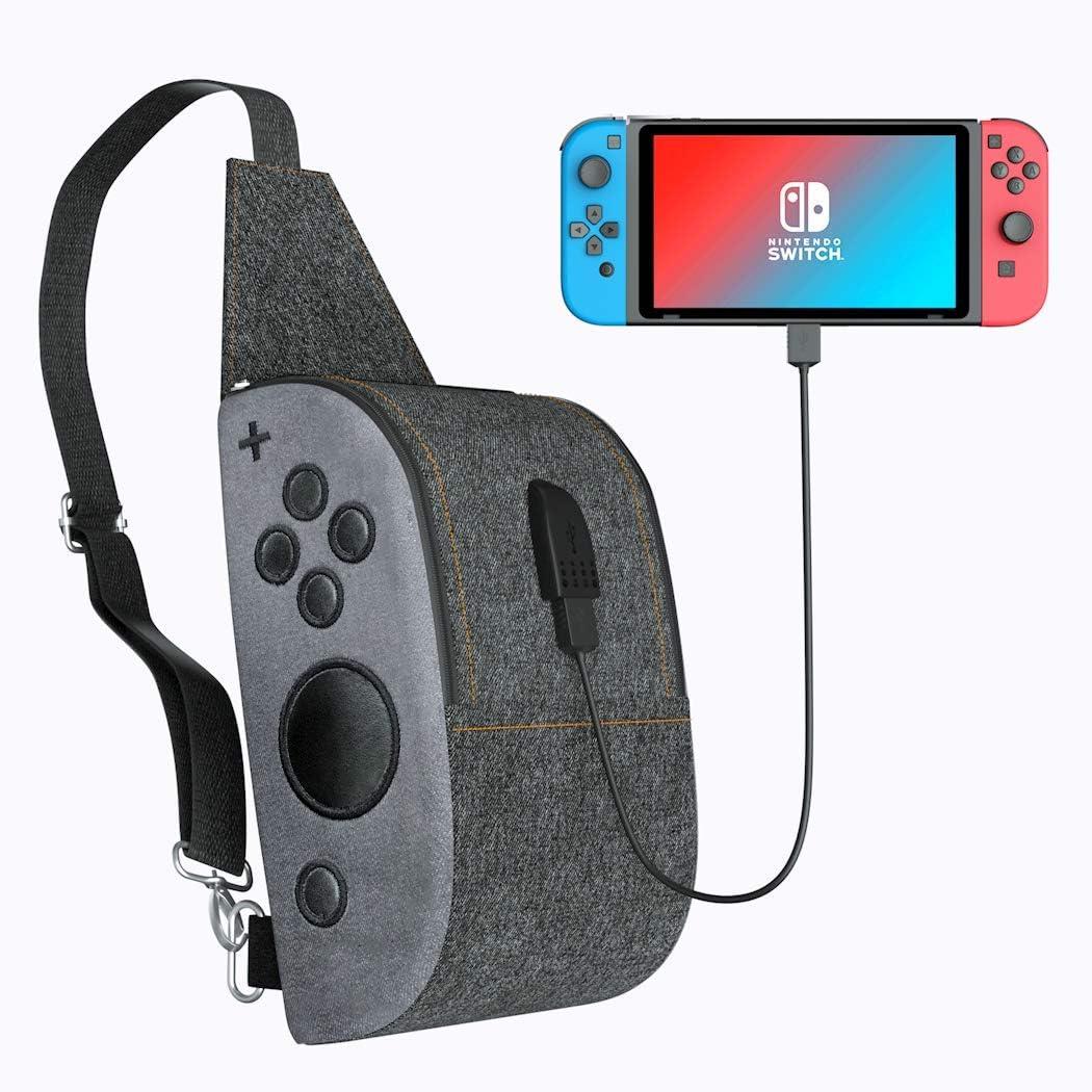 OIVO - Bolsa de hombro para Nintendo Switch, mochila con puerto de ...