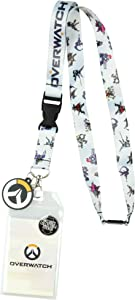 Overwatch Heroes Lanyard ID Badge Holder with 2