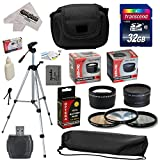 Ultimate Accessory Kit for Canon PowerShot SX50 HS SX50HS Digital Camera Includes 32GB High-Speed SDHC Card + Card Reader + Opteka NB-10L 1800mAh Ultra High Capacity Li-ion Battery Pack + 67MM 0.43x HD2 Wide Angle Panoramic Macro Fisheye Lens + 67MM 2.2x HD2 AF Telephoto Lens + 67MM Adapter Ring + Deluxe Padded Carrying Case + Professional 54' Tripod + Lens Cleaning Kit including LCD Screen Protectors Photo Print