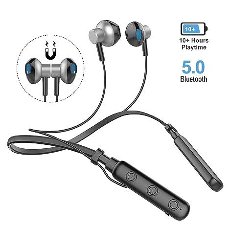 Auricolari Bluetooth V5.0 Magnetico Cuffie Auricolari Bluetooth con  Microfono Stereo HIFI 6a98a5c0616b