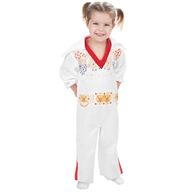 ab19178b7011 Image Unavailable. Image not available for. Color  Rubie s Costume Elvis  Presley Toddler White Jumpsuit